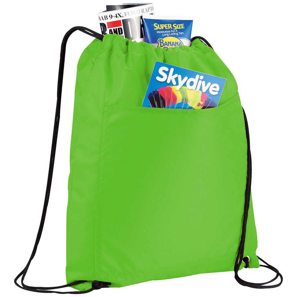 Bullet Lime Green Amphitheater Insulated 12-Can Event Cool Drawstring