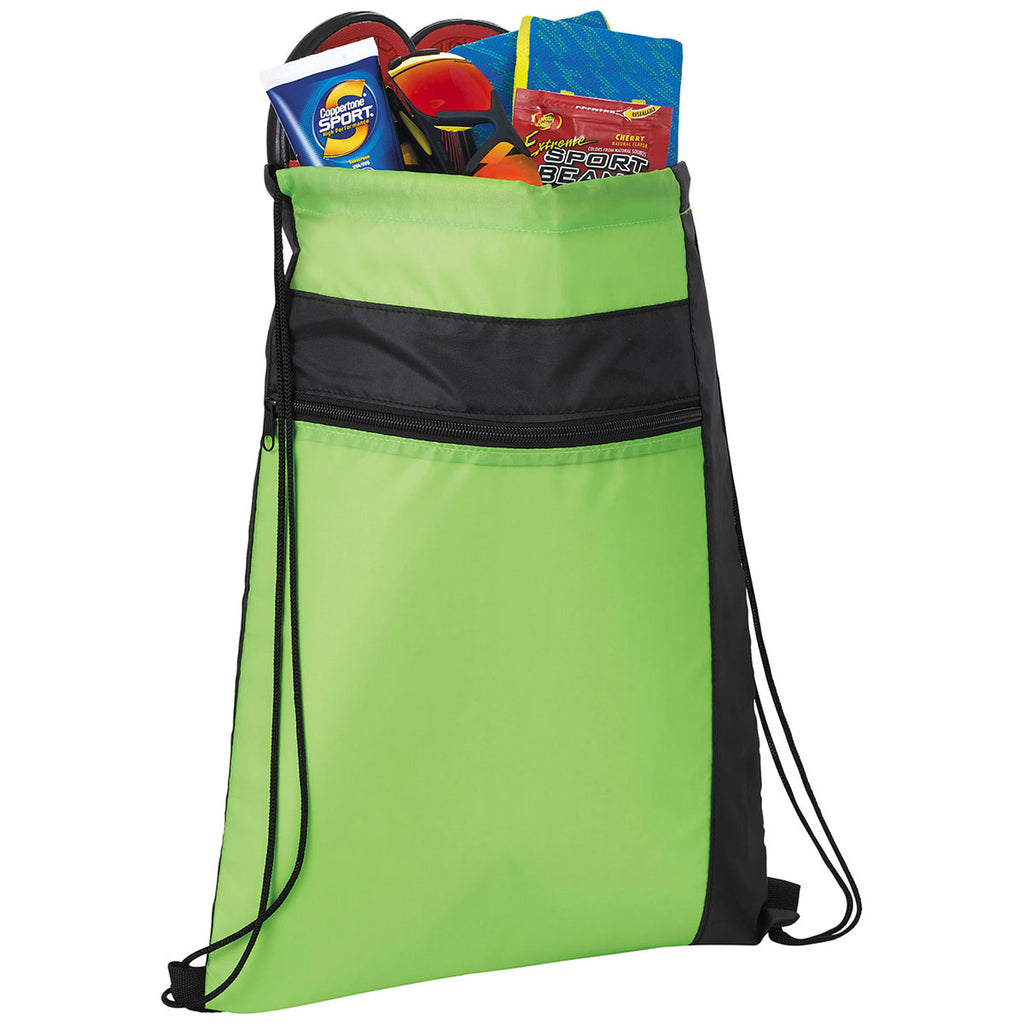 Bullet Lime Green Color Pop Drawstring Bag