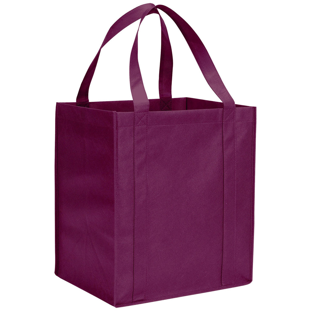 Bullet Burgundy Hercules Non-Woven Grocery Tote