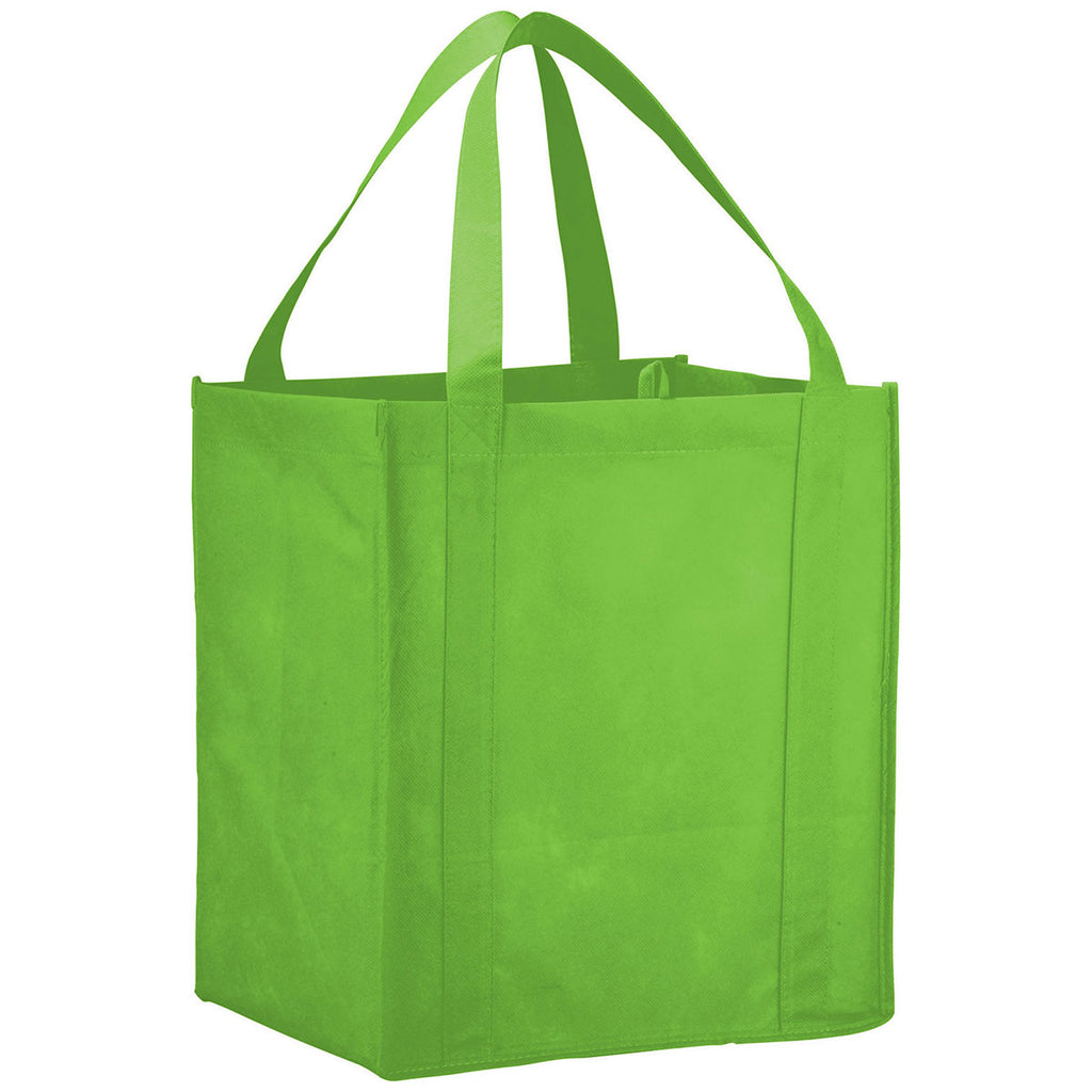 Bullet Lime Green Hercules Non-Woven Grocery Tote