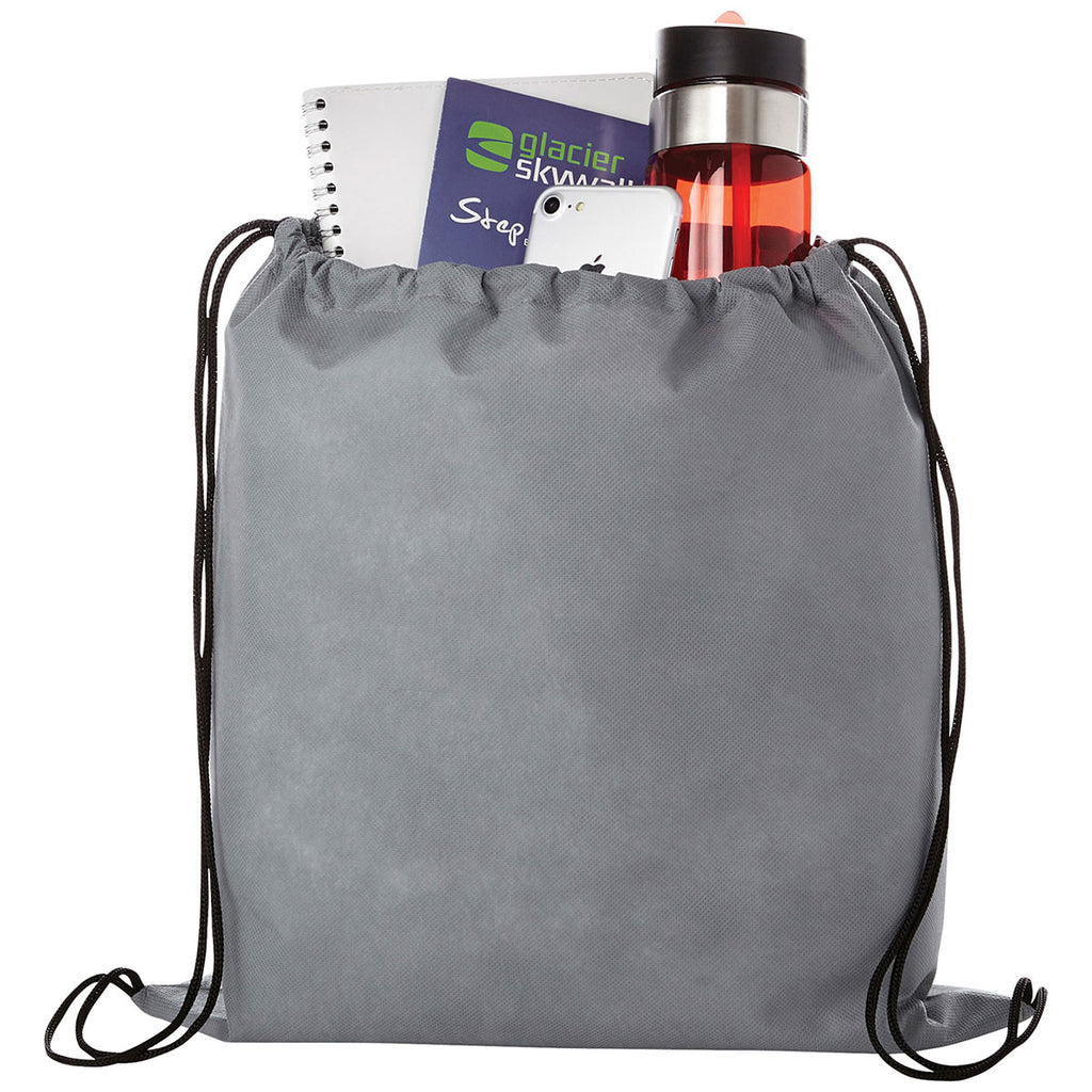 Bullet Grey Evergreen Non-Woven Drawstring Bag