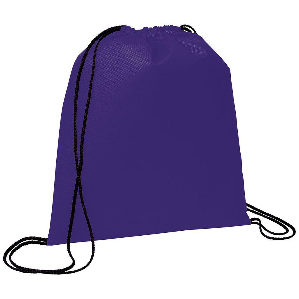 Bullet Purple Evergreen Non-Woven Drawstring Bag