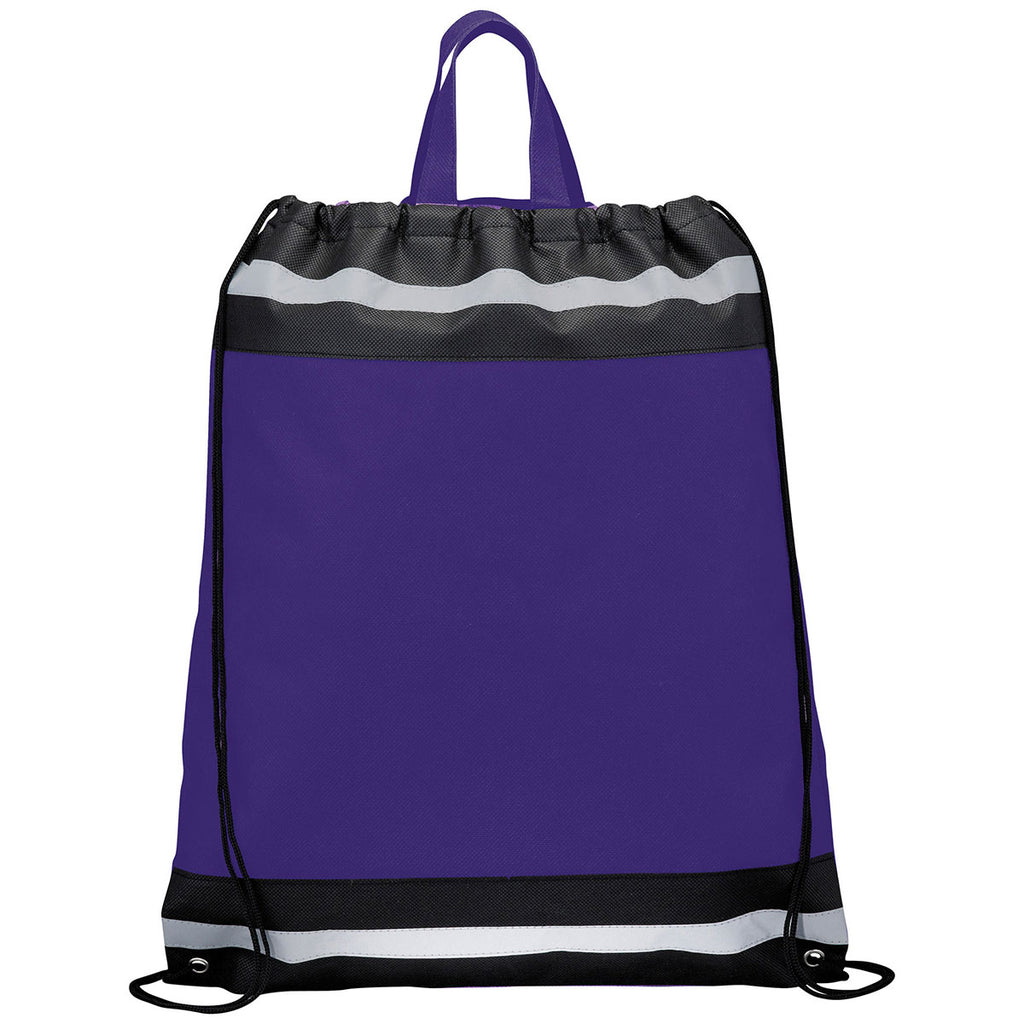 Bullet Purple Eagle Non-Woven Drawstring Bag
