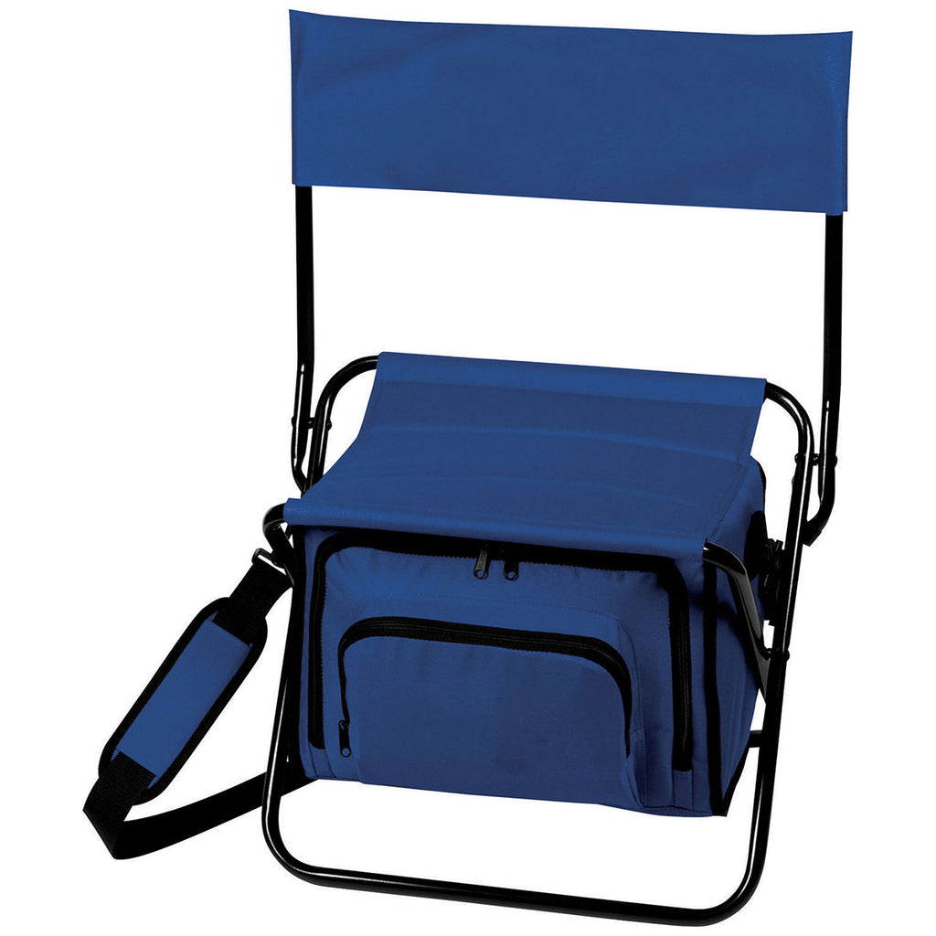 Bullet Blue Folding Insulated 12-Can Cooler Chair