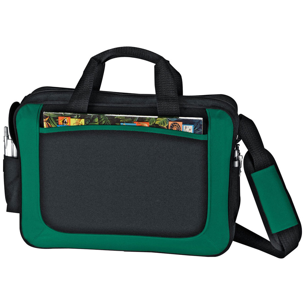 Bullet Green with Black Trim Dolphin Business Briefcase