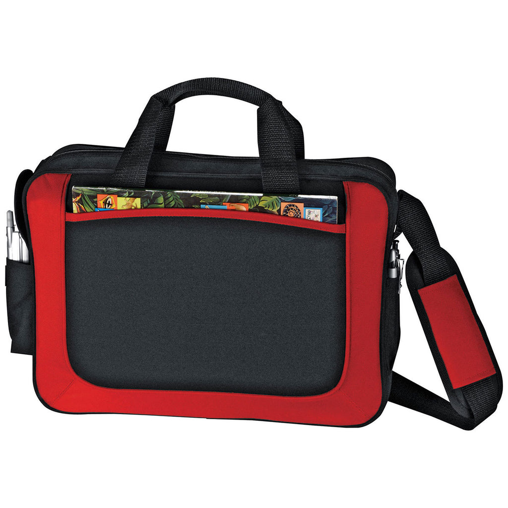 Bullet Red with Black Trim Dolphin Business Briefcase