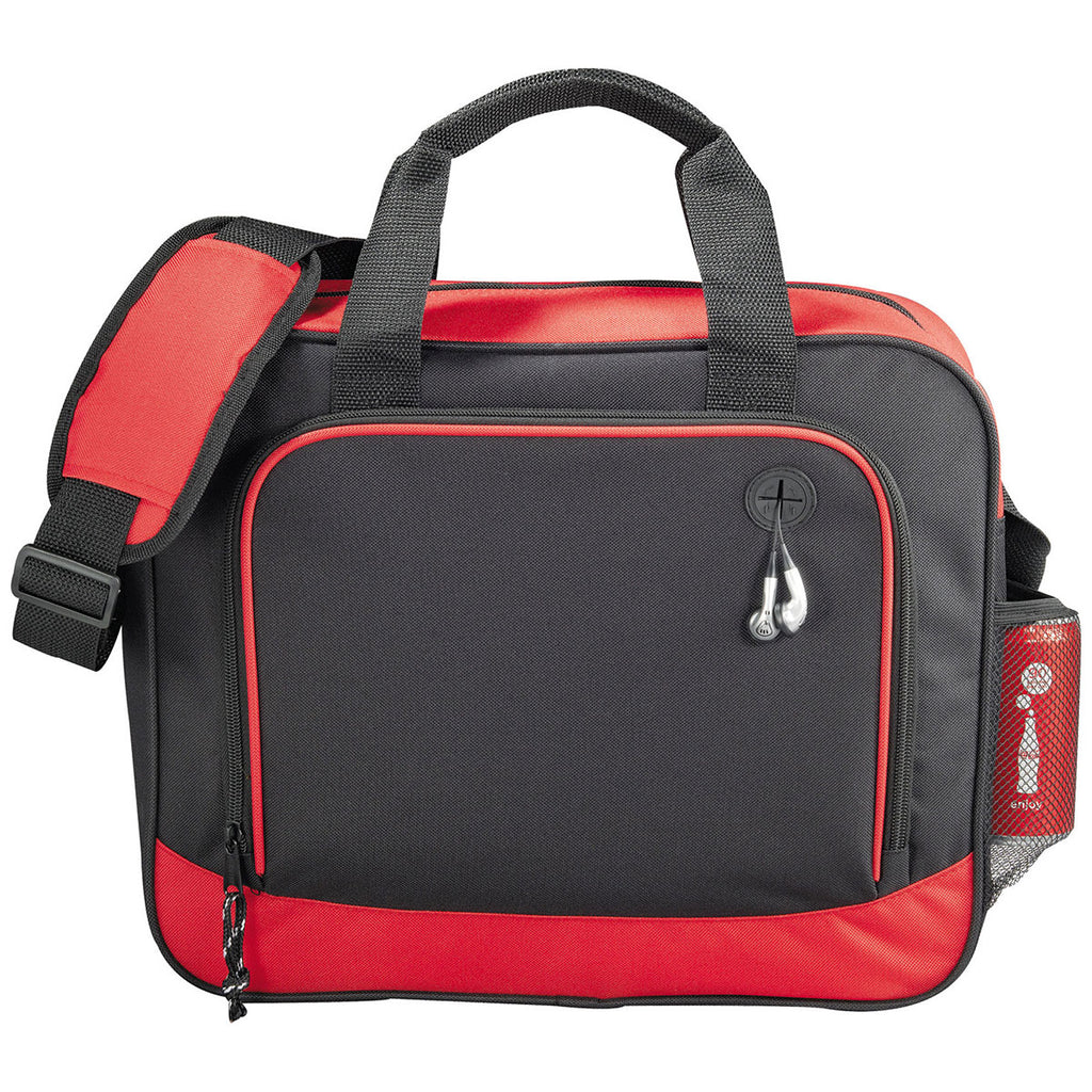Bullet Black with Red Trim Barracuda Business Briefcase