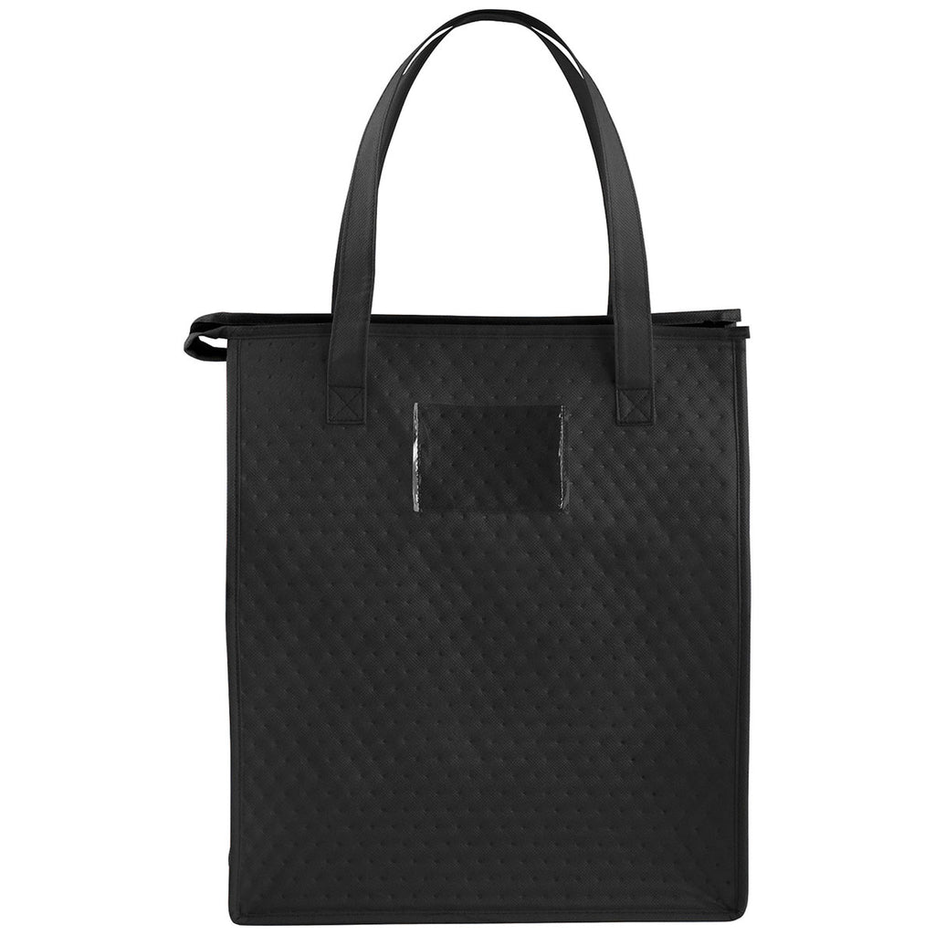 Bullet Black Deluxe Non-Woven Insulated Grocery Tote