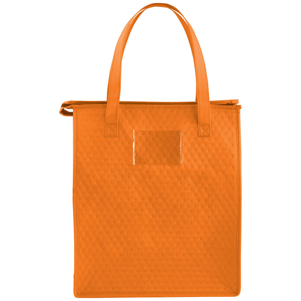 Bullet Orange Deluxe Non-Woven Insulated Grocery Tote