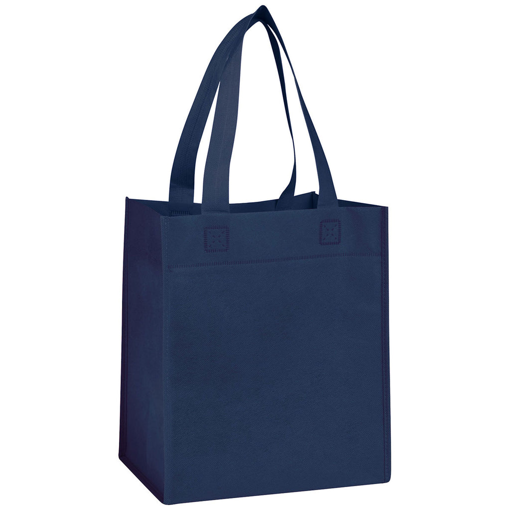 Bullet Navy Blue Basic Grocery Tote
