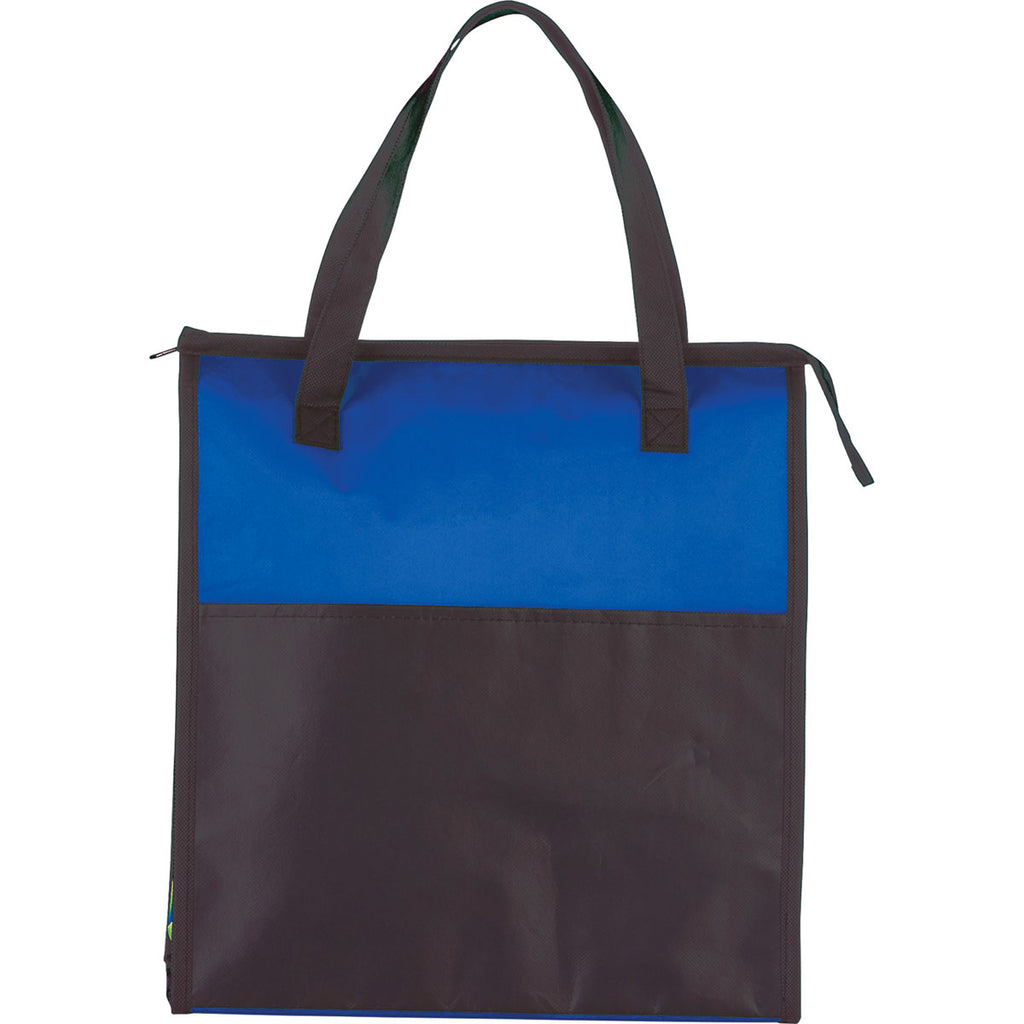Bullet Royal Blue Matte Laminated Insulated Tote