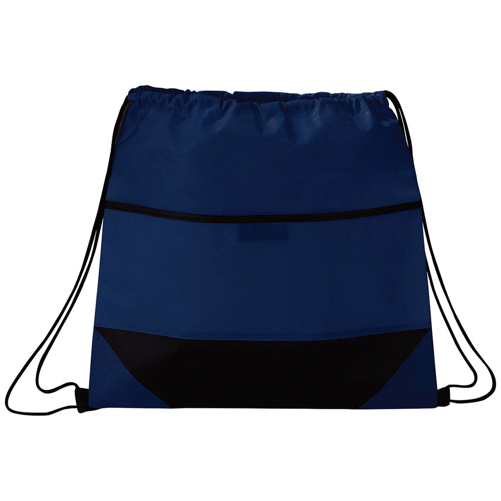 Bullet Navy Angles Non-Woven Drawstring Bag