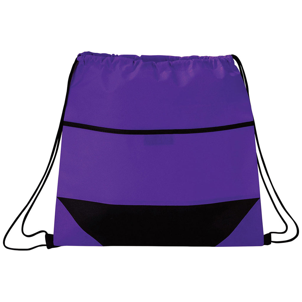 Bullet Purple Angles Non-Woven Drawstring Bag
