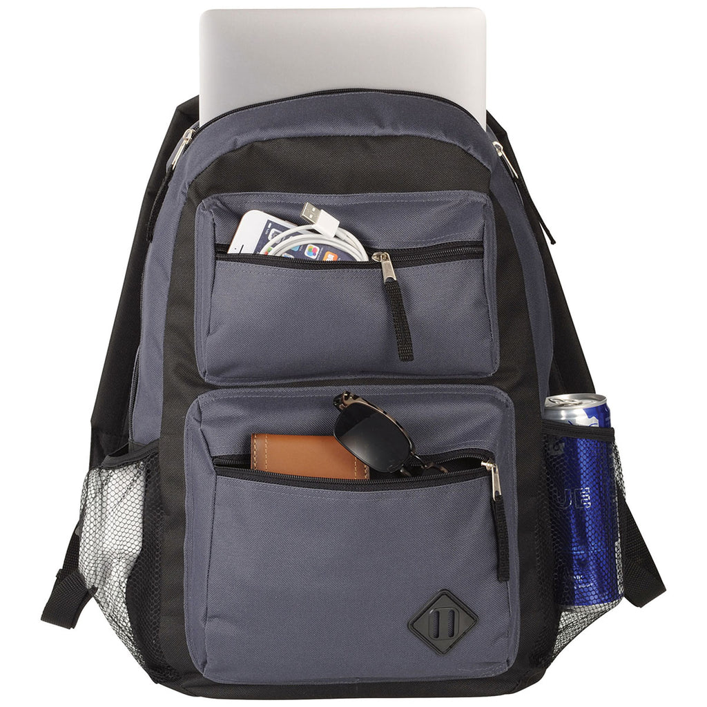 Bullet Charcoal Double Pocket Backpack