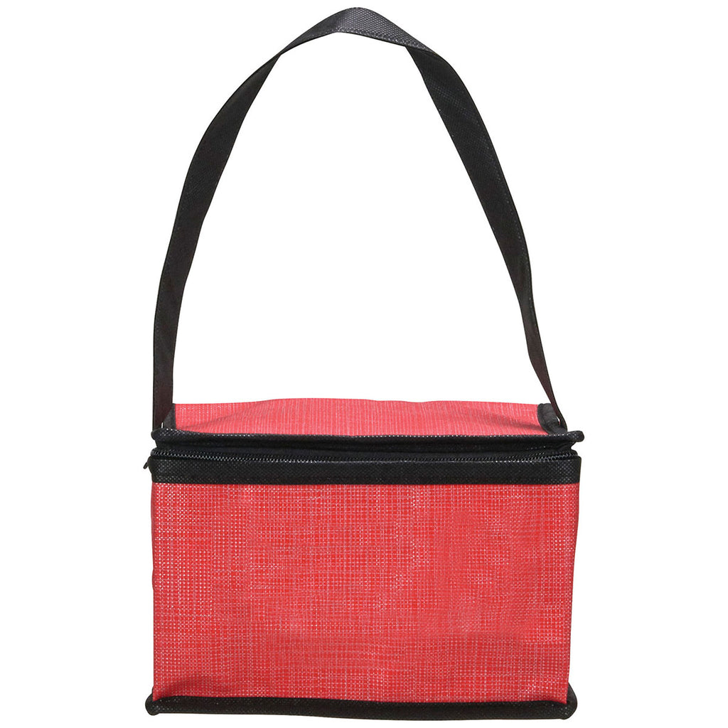 Bullet Red Crossweave Non-Woven Lunch Cooler