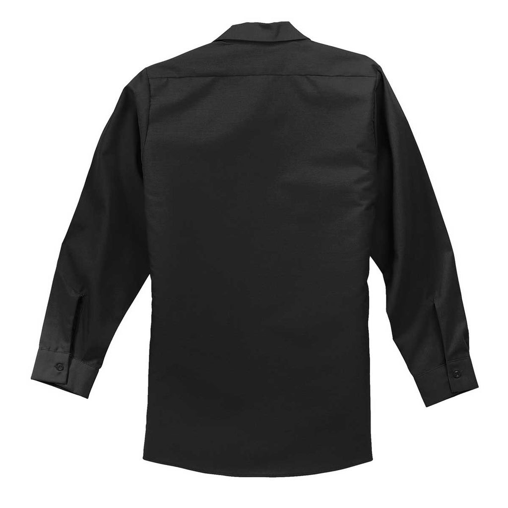Red Kap Men's Black Long Sleeve Industrial Work Shirt