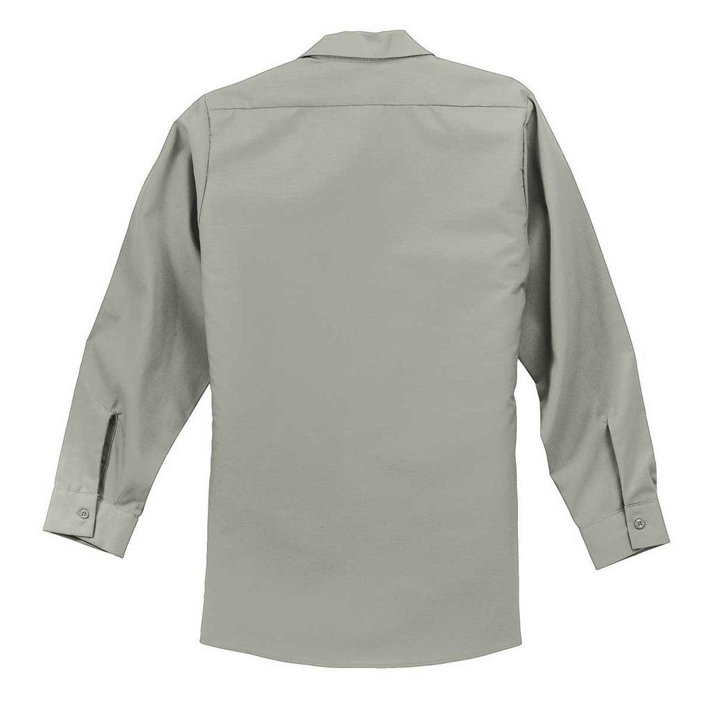 Red Kap Men's Light Grey Long Sleeve Industrial Work Shirt