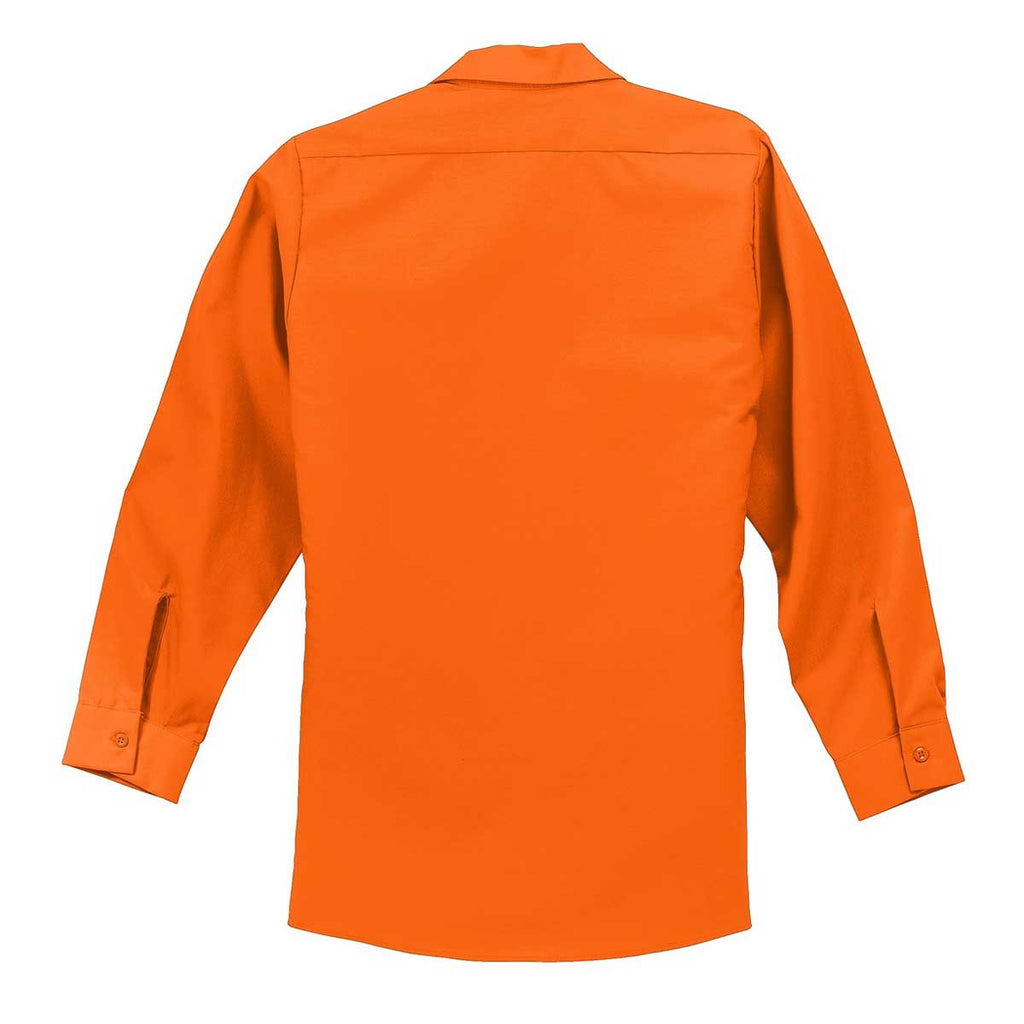 Red Kap Men's Orange Long Sleeve Industrial Work Shirt
