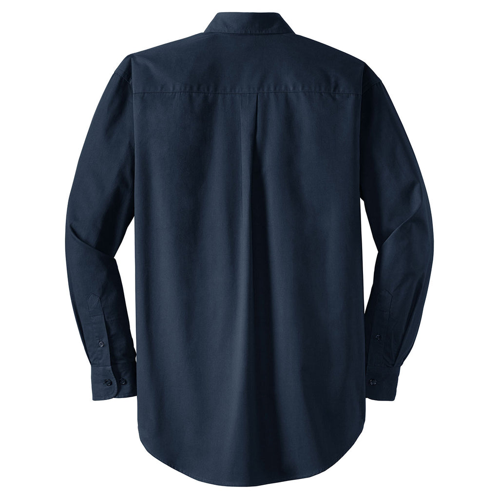 CornerStone Men's Navy Long Sleeve SuperPro Twill Shirt