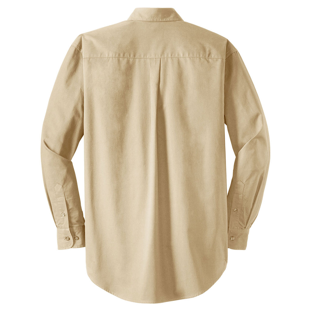 CornerStone Men's Stone Long Sleeve SuperPro Twill Shirt