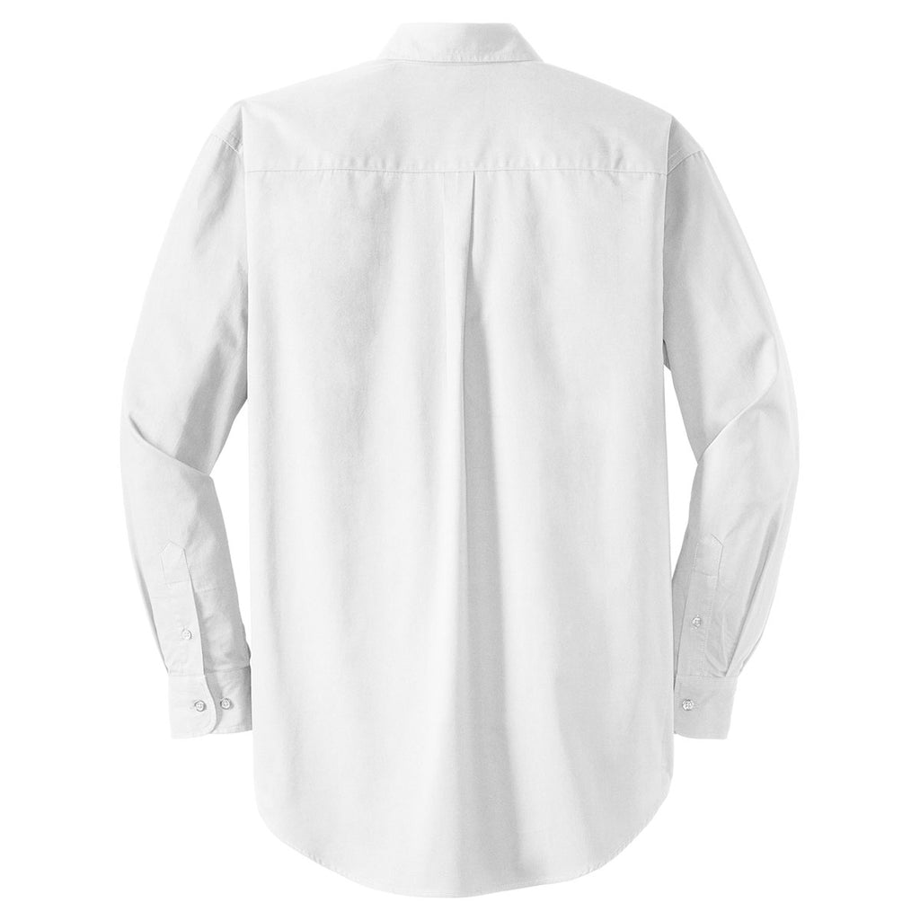 CornerStone Men's White Long Sleeve SuperPro Twill Shirt