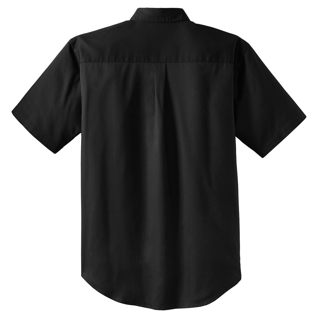 CornerStone Men's Black Short Sleeve SuperPro Twill Shirt