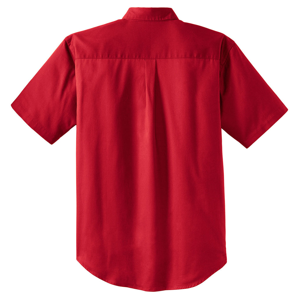 Cornerstone Men's Red Short Sleeve SuperPro Twill Shirt