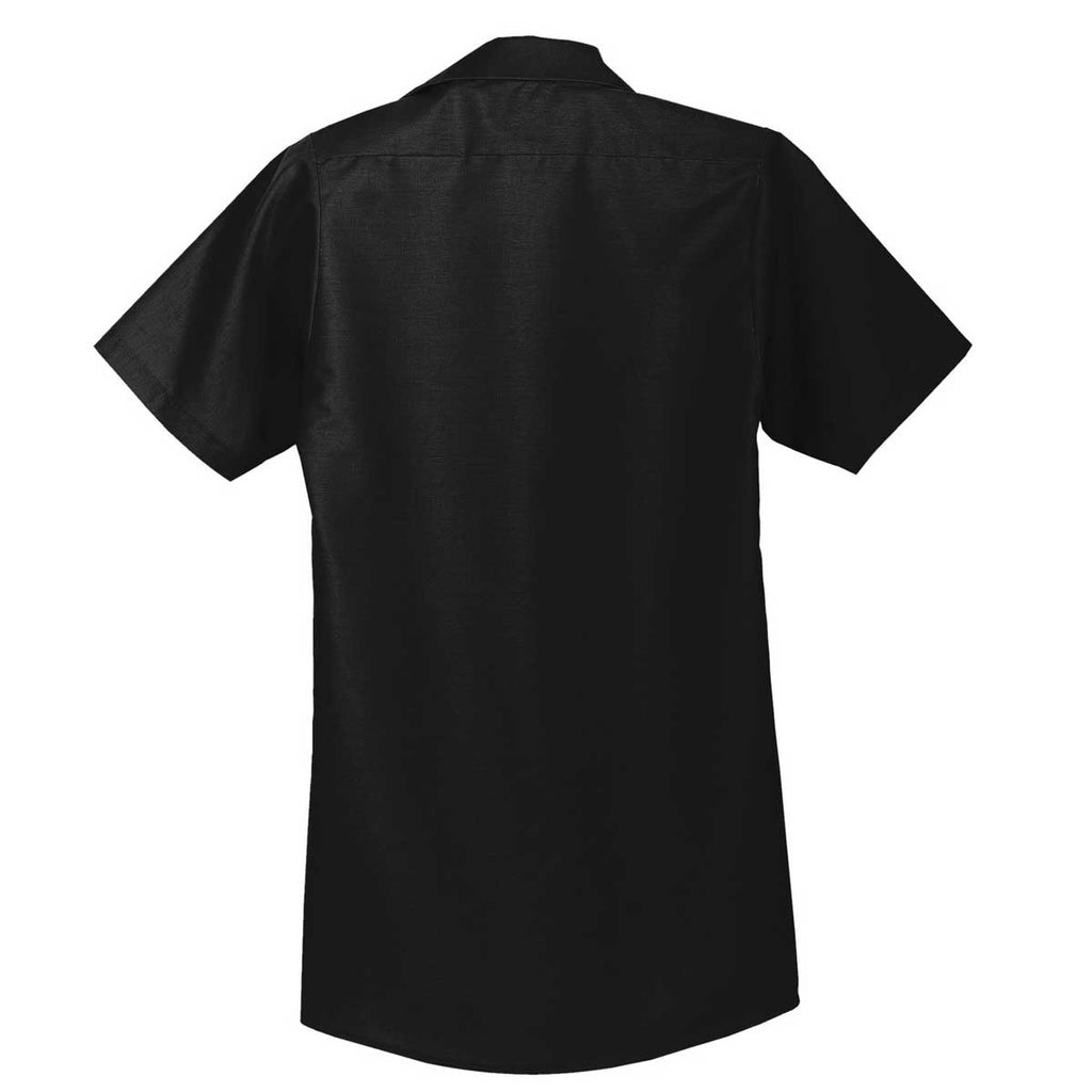 Red Kap Men's Tall Black Short Sleeve Industrial Work Shirt