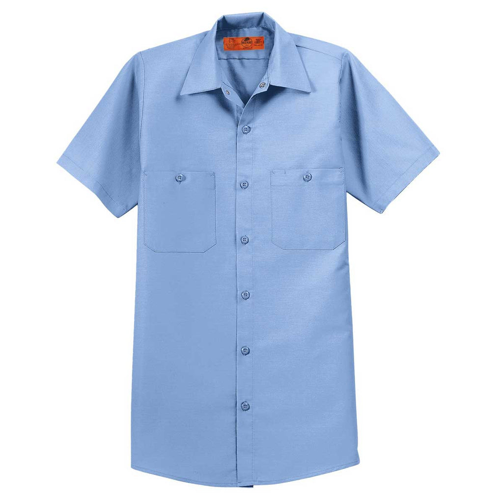 red kap men 39 s tall light blue short sleeve industrial work