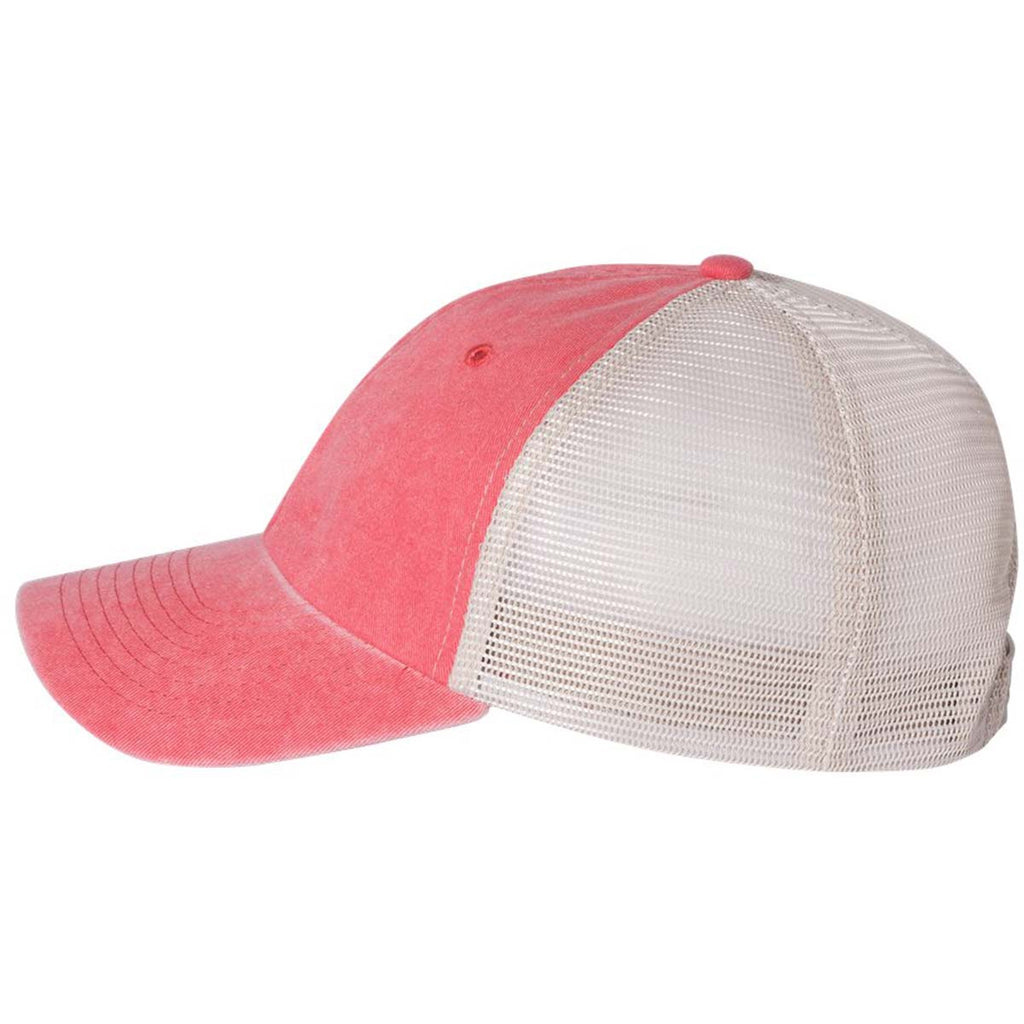 Sportsman Red/Stone Pigment Dyed Trucker Cap