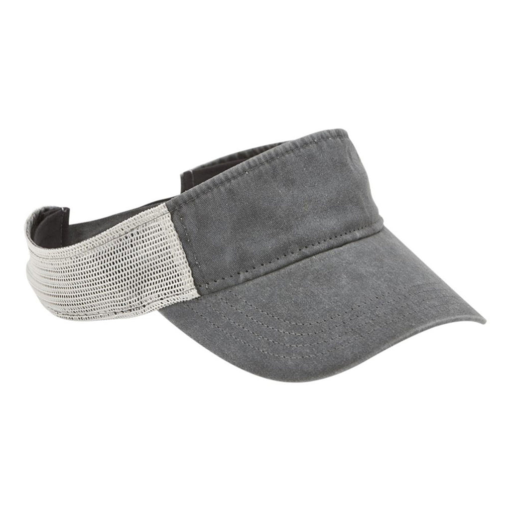 Sportsman Men's Black/Stone Pigment-Dyed Trucker Visor