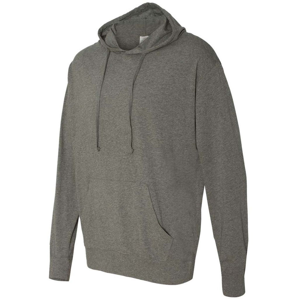 Independent Trading Co. Unisex Gunmetal Heather Lightweight Hooded Pullover T-Shirt