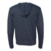Independent Trading Co. Unisex Classic Navy Heather Lightweight Jersey Hooded Full-Zip T-Shirt