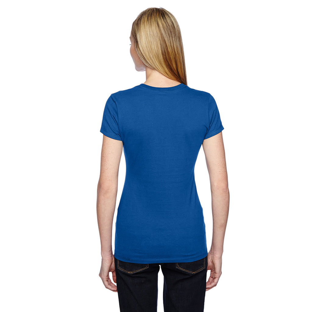 Fruit of the Loom Women's Royal 4.7 oz Sofspun Jersey Junior Crew T-Shirt