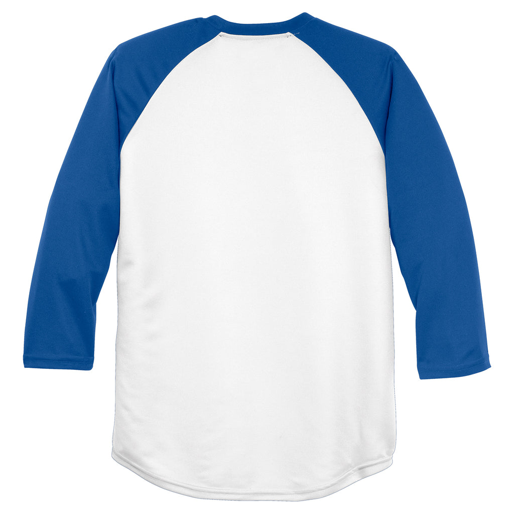 Sport-Tek Men's White/True Royal PosiCharge Baseball Jersey