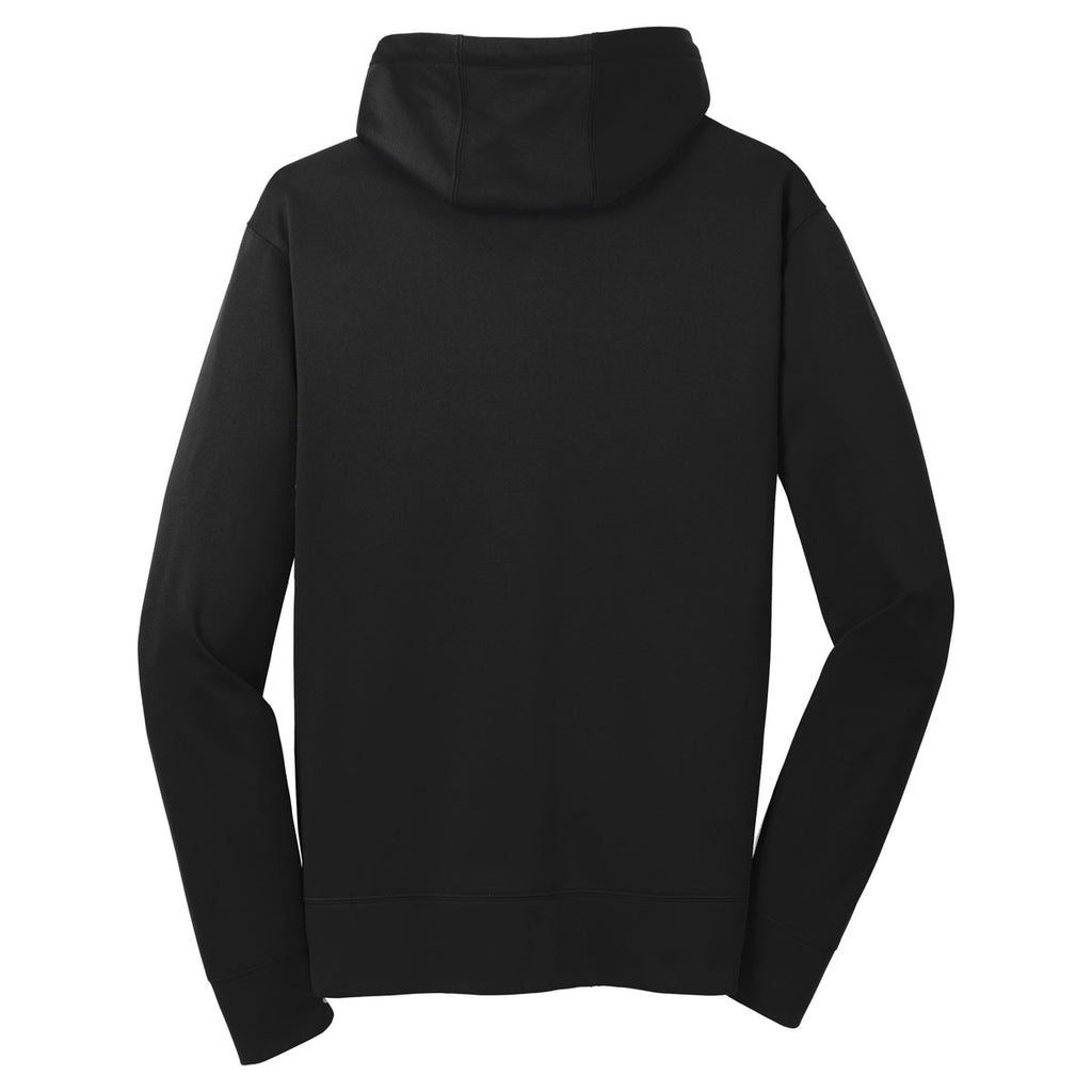 Sport-Tek Men's Black Sport-Wick Fleece Full-Zip Hooded Jacket