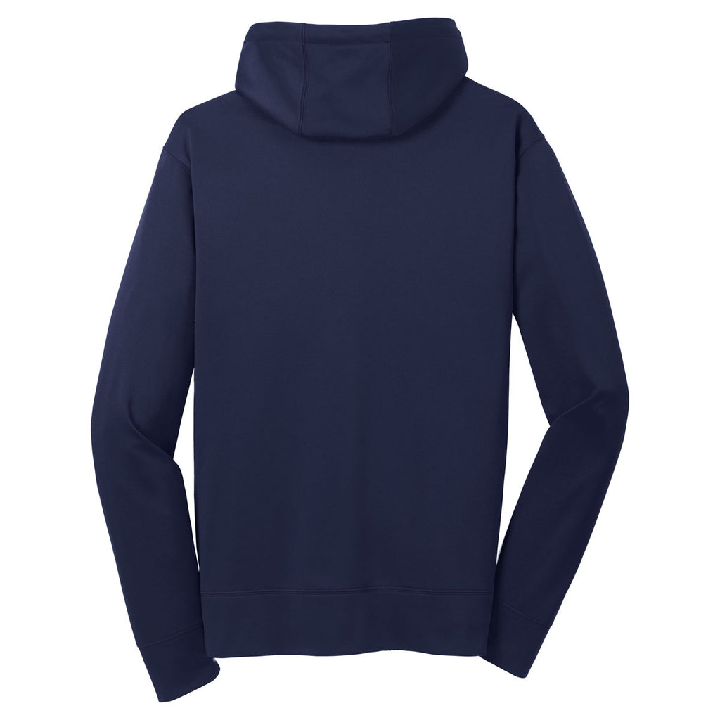 Sport-Tek Men's Navy Sport-Wick Fleece Full-Zip Hooded Jacket