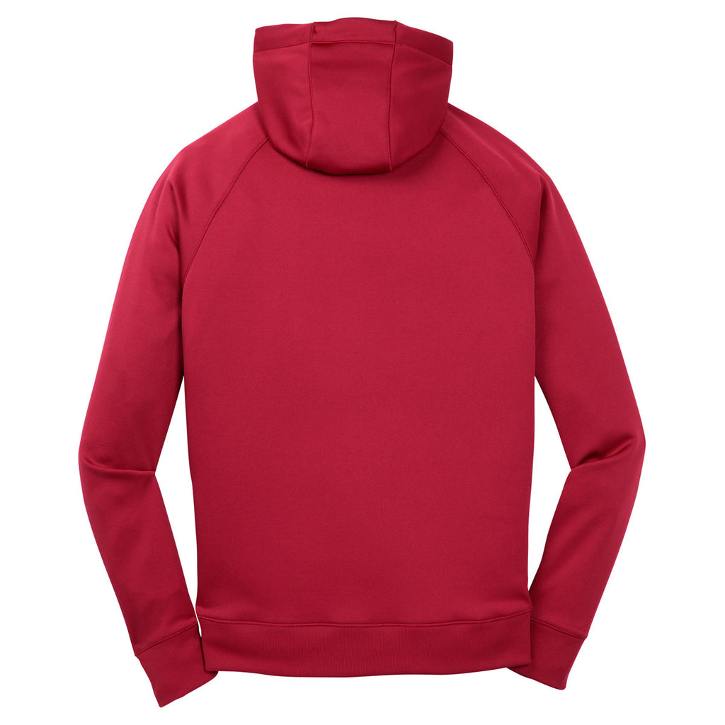 Sport-Tek Men's True Red Tech Fleece Hooded Sweatshirt