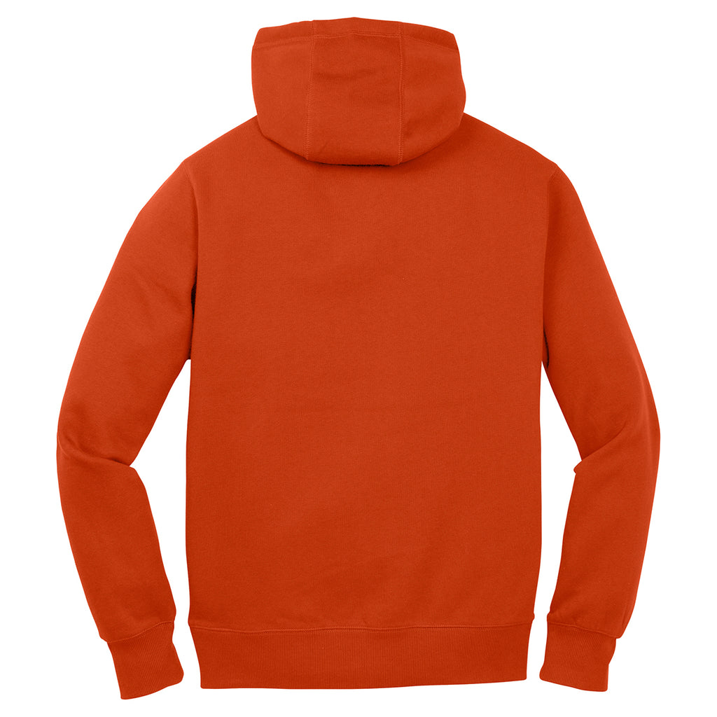 Sport-Tek Men's Deep Orange Pullover Hooded Sweatshirt
