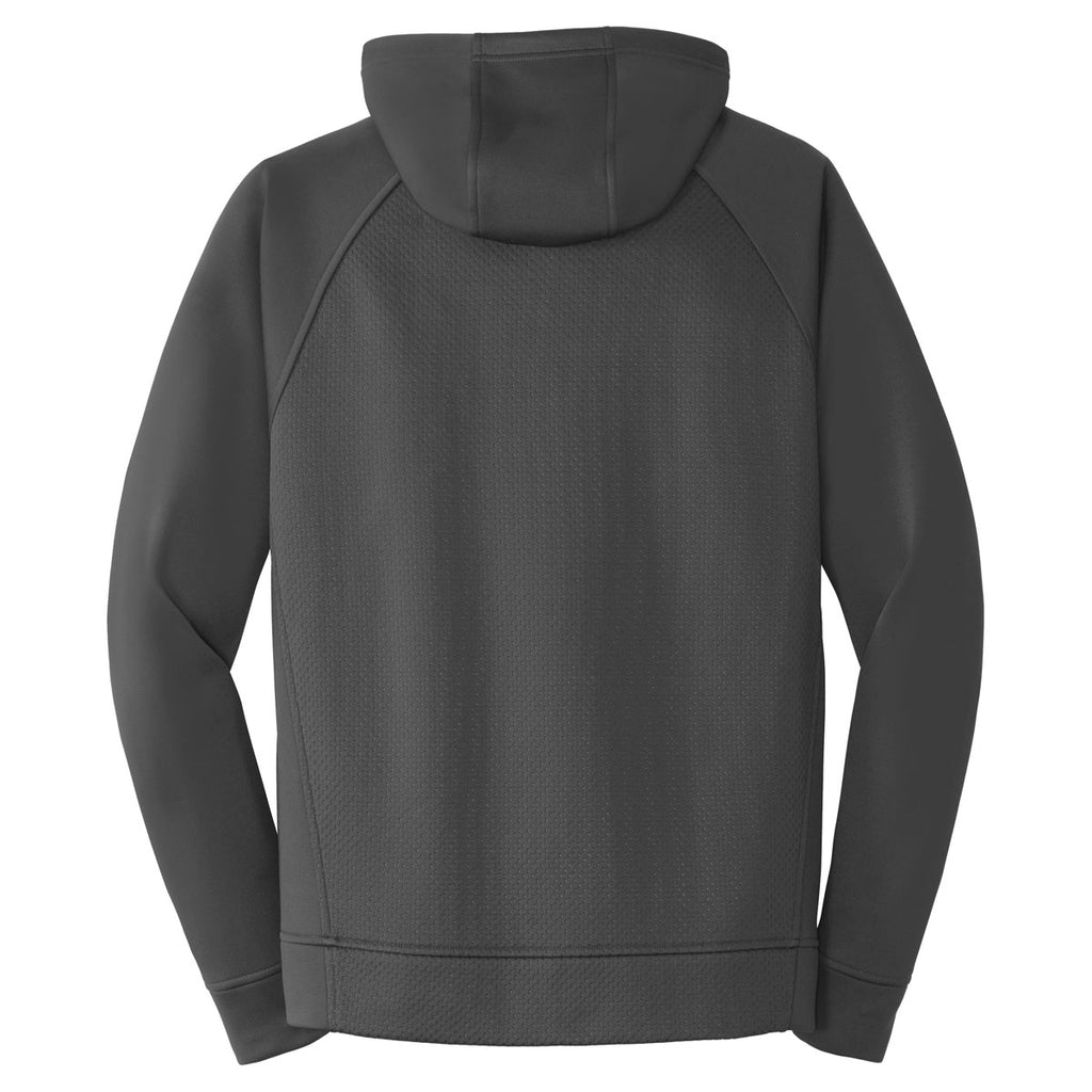 Sport-Tek Men's Iron Grey Rival Tech Fleece Full-Zip Hooded Jacket
