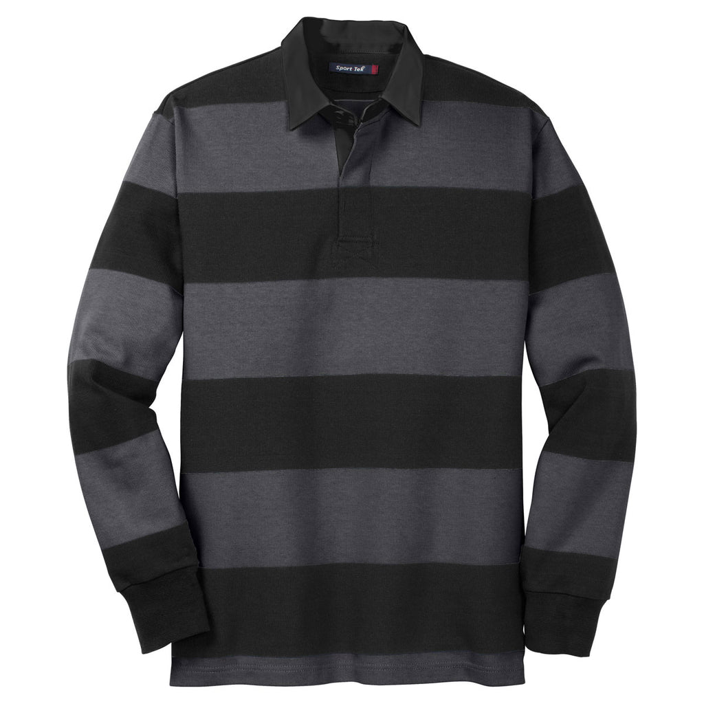 Sport Tek Men S Black Graphite Grey Classic Long Sleeve Rugby Polo Everything about major sports including football, cricket, tennis, motogp, rugby and american sports. sport tek men s black graphite grey classic long sleeve rugby polo