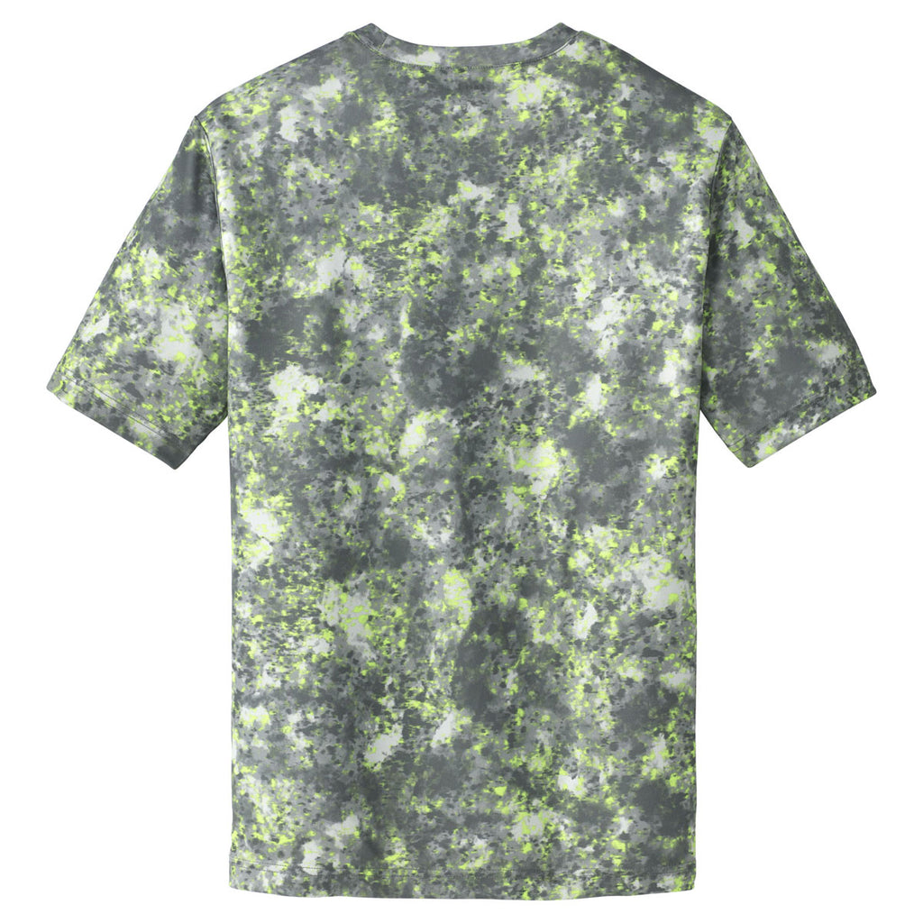 Sport-Tek Men's Lime Shock Mineral Freeze Tee