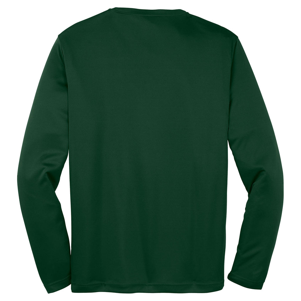 Sport-Tek Men's Forest Green Long Sleeve PosiCharge Competitor Tee