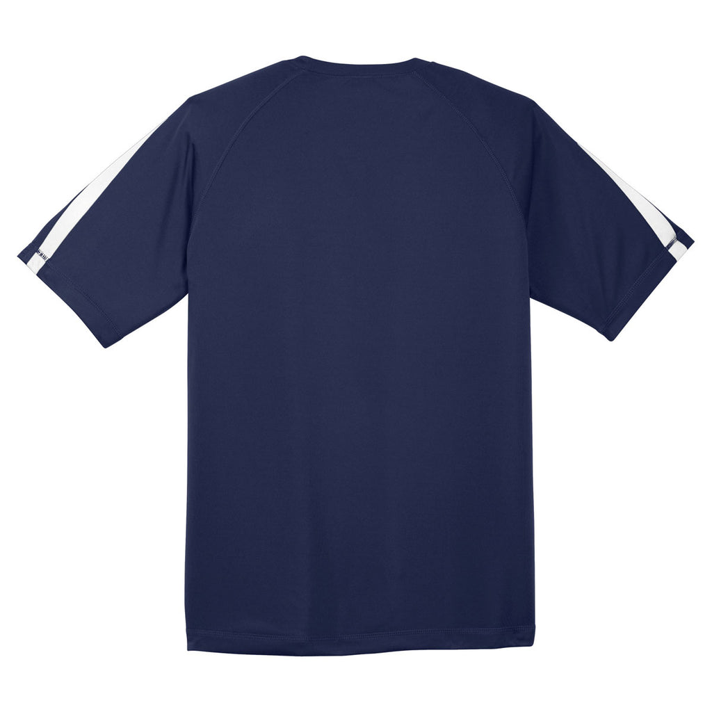 Sport-Tek Men's True Navy/White Colorblock PosiCharge Competitor Tee