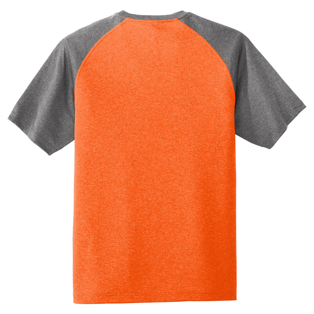 Sport-Tek Men's Deep Orange Heather-On-Heather Contender Tee