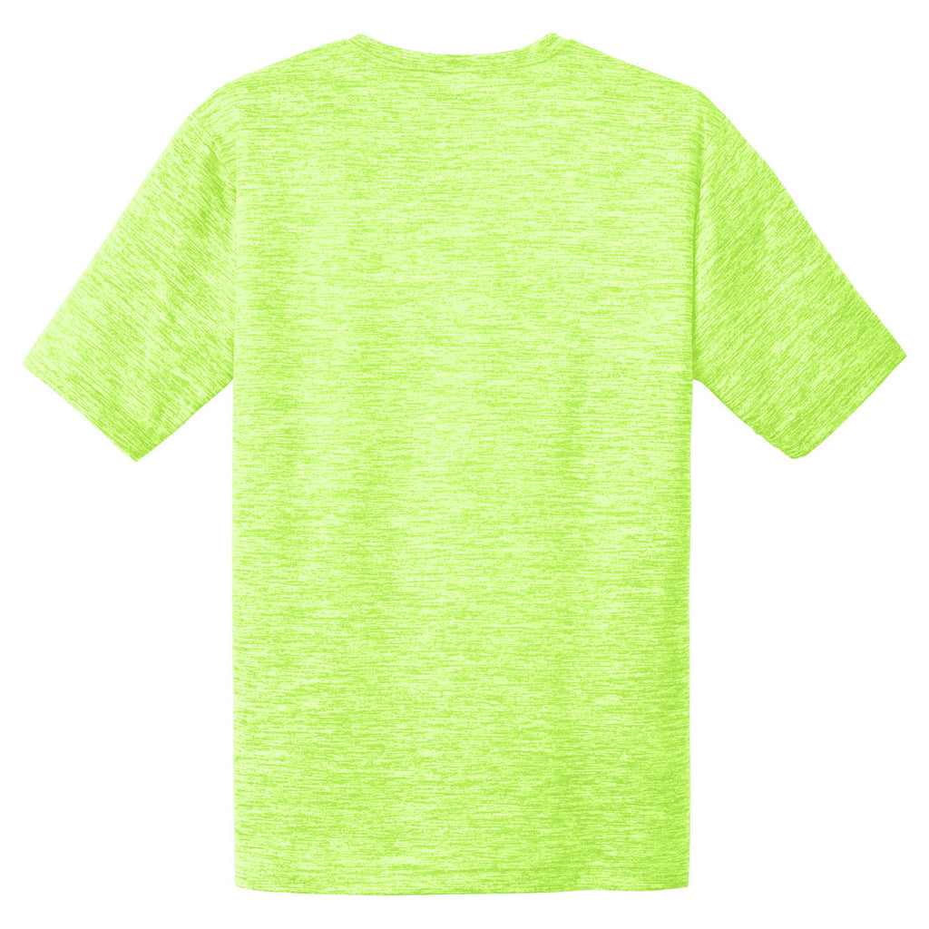 Sport-Tek Men's Lime Shock Electric PosiCharge Electric Heather Tee