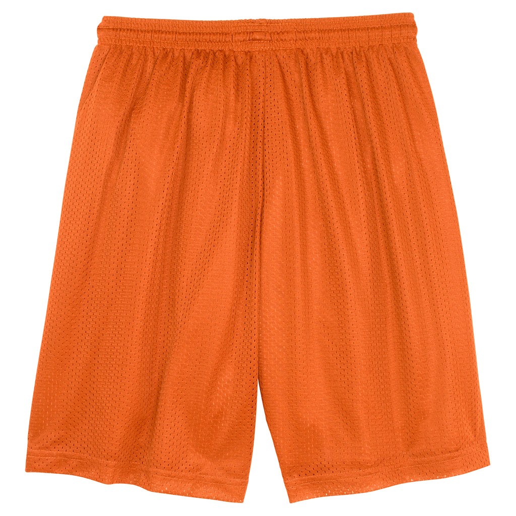 Sport-Tek Men's Deep Orange PosiCharge Classic Mesh Short