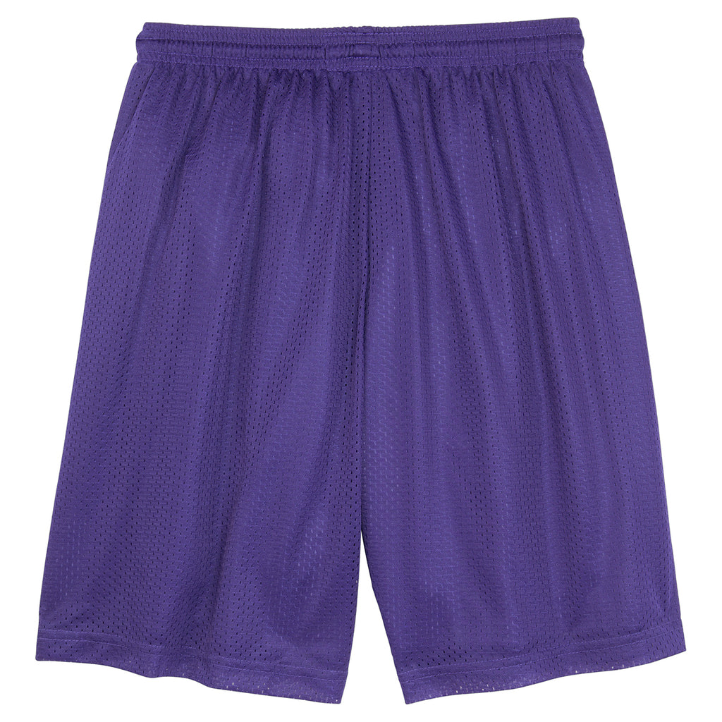 Sport-Tek Men's Purple PosiCharge Classic Mesh Short
