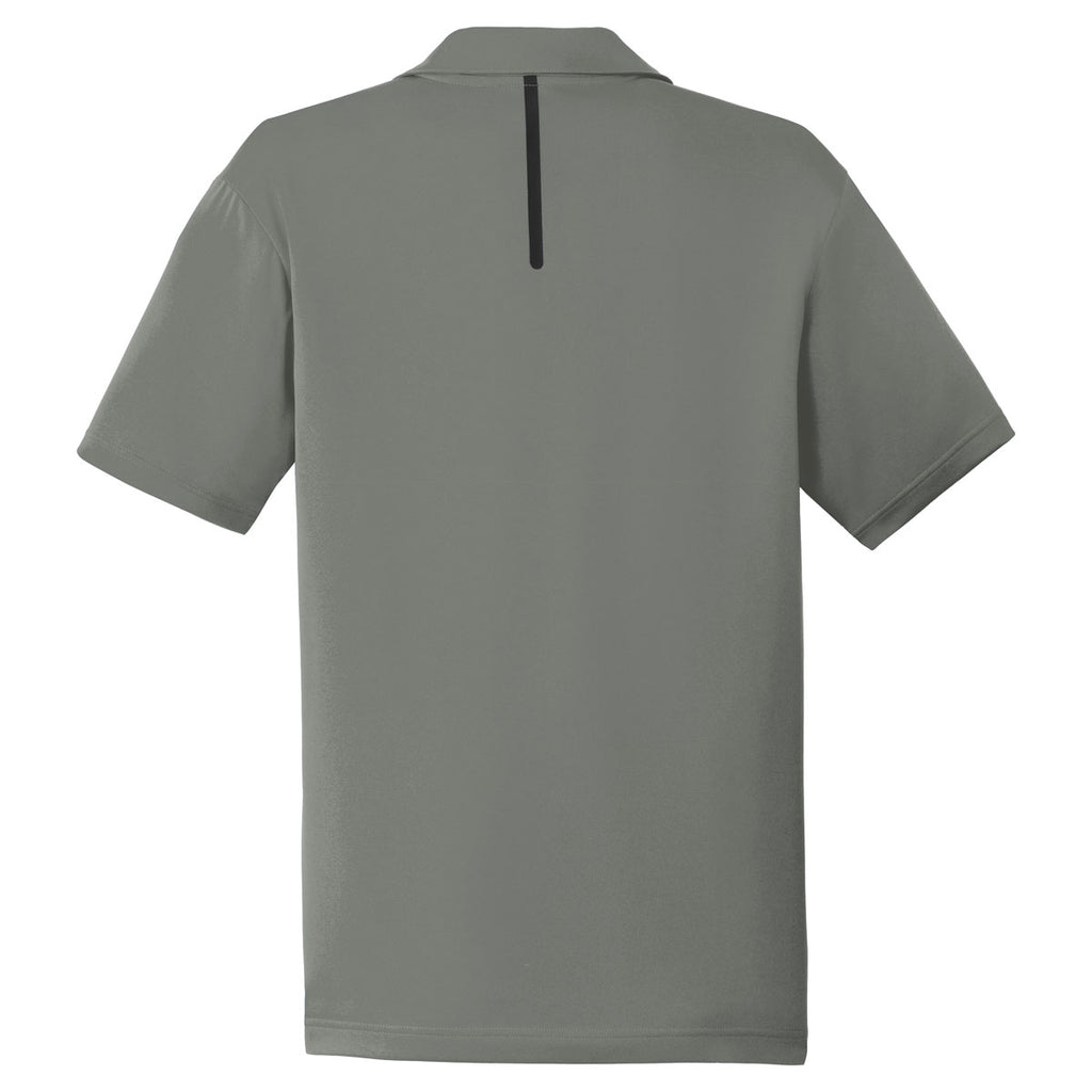 Sport-Tek Men's Dark Smoke Grey/Black Contrast PosiCharge Tough Polo