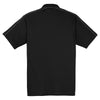 Sport-Tek Men's Black/Iron Grey Micropique Sport-Wick Piped Polo